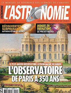 Revue «L'Astronomie», janvier 2017.