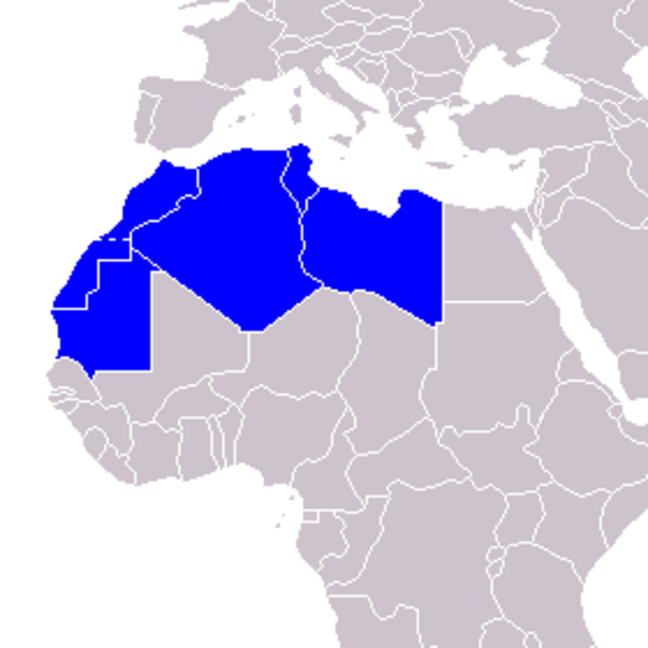 maghreb carte du monde