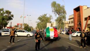 Lực lượng quân đội Irak tại Kirkouk, ngày 25/09/2017 trong lúc người Kurdistan bỏ phiếu về quy chế độc lập.