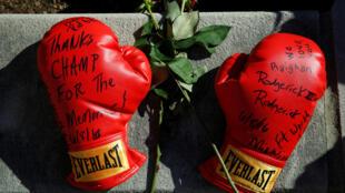 Homenaje a Mohamed Ali, en Louisville, Kentucky.