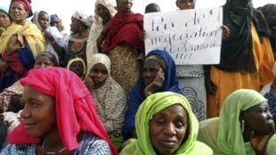 Pour certaines populations du nord du Mali, les touaregs restent les principaux responsables du conflit. Ici, une manifestation à Gao fin mai.