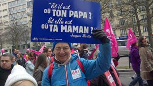 """""""¿Y dónde está tu papá? ¿Y dónde está tu mamá?"""", referencia a un programa de televisión francés."""