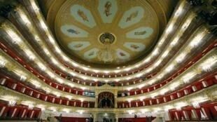 Le fameux théâtre du Bolchoï à Moscou, après 6 années  de fermeture rénovation. Photo, le 24 octobre 2011.
