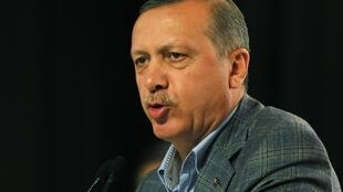 Le Premier ministre Recep Tayyip Erdogan lors d'un discours à Istanbul, le 12 septembre 2012