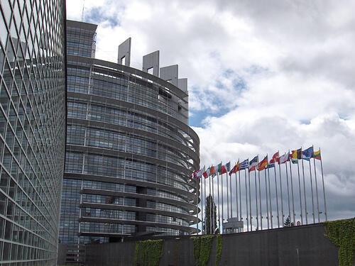 Sede do Parlamento Europeu em Estrasburgo, França