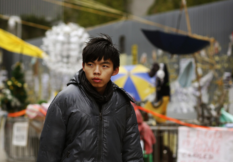 Líder dos protestos pró-democracia em Hong Kong, Joshua Wong.