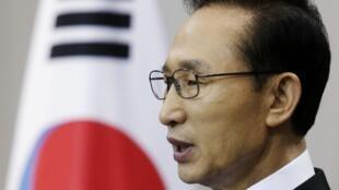 Le président sud-coréen Lee Myung-bak, à Séoul, le 29 novembre 2010.