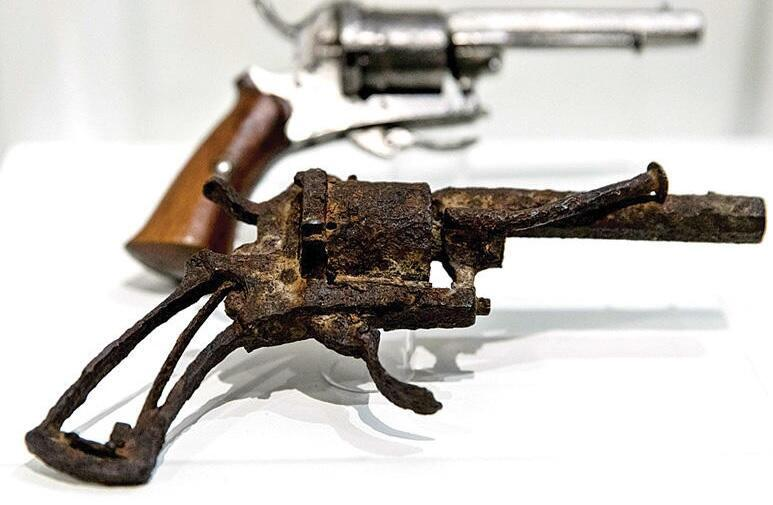 The revolver with which Vincent Van Gogh is believed to have shot himself with.