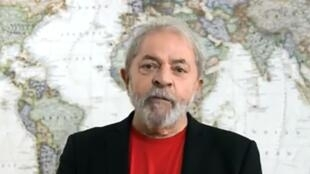 Frame do vídeo publicado em 27 de janeiro de 2018 pela página do ex-presidente Lula no Facebook.