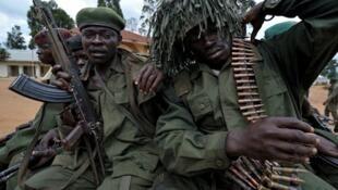 Wanajeshi wa jeshi la DRC wakijiandaa kuingia kwenye uwanja wa mapambano