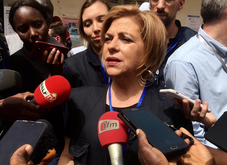 Elena Valenciano, à la tête de la Mission d'observation de l'Union européenne pour l'élection au Sénégal.