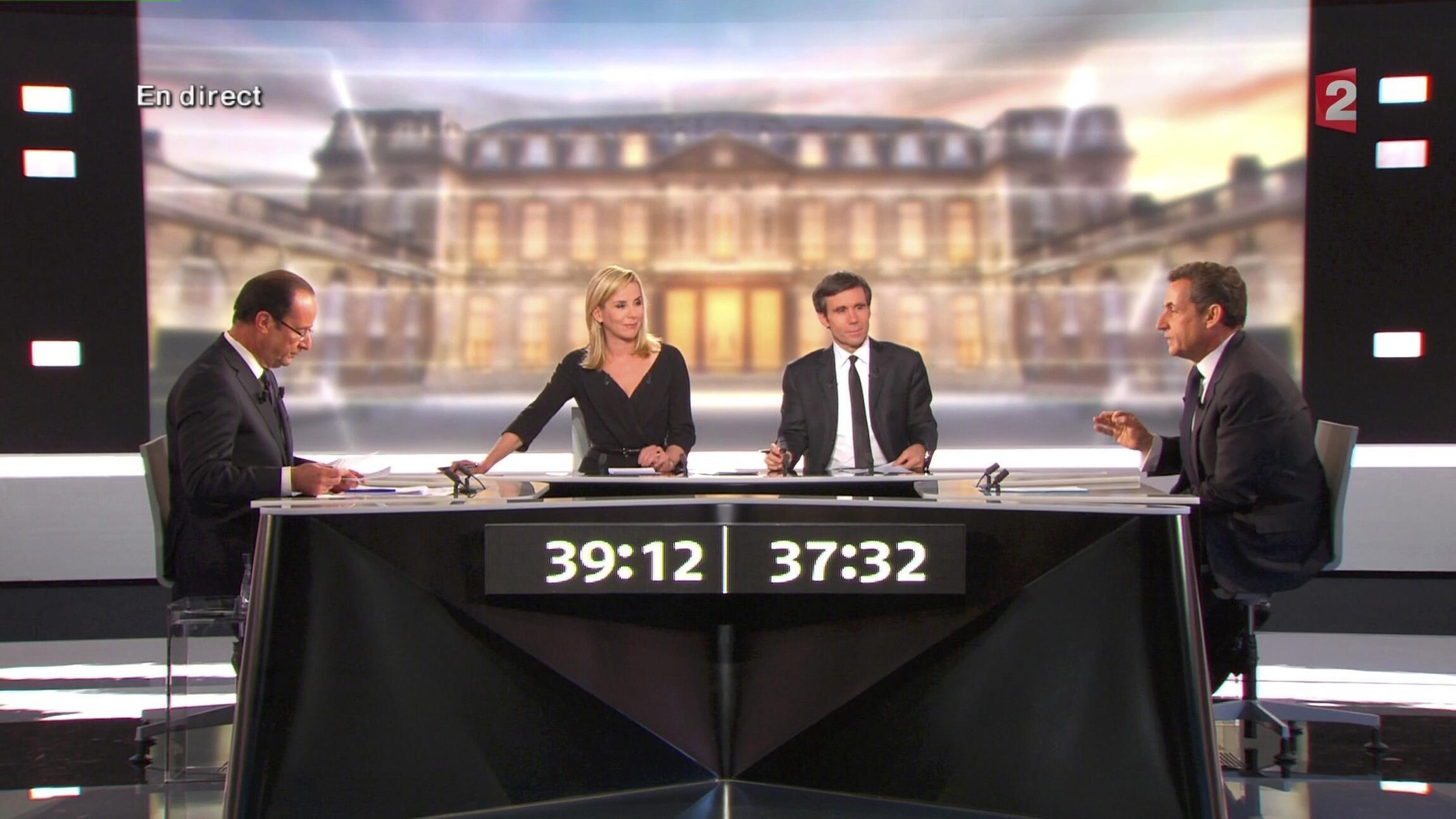 Le débat télévisé face à François Hollande n'a pas fait basculer l'opinion.