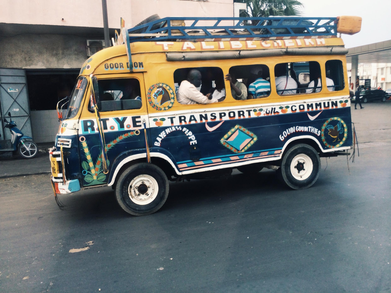 A 'car rapide' in Dakar, Senegal