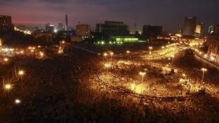 Площадь Тахрир ночью 21 ноября 2011