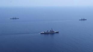 Les forces de défense maritime japonaises en mer de Chine, le 12 mai 2015.