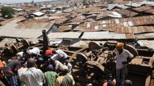 A Kibera, dans la banlieue de Nairobi.