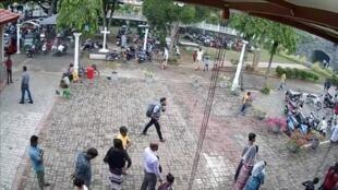 Một người bị tình nghi là thủ phạm một trong những vụ đặt bom ở Sri Lanka ngày 21/04/2019.
