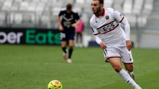 L'attaquant de Nice Amine Gouiri lors d'un match de L1 à Bordeaux, le 27 septembre 2020