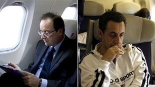"""Франсуа Олланд и Николя Саркози вылетели в ЮАР разными """"Фальконами"""""""