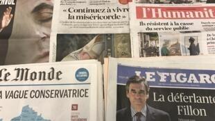 Primeiras páginas dos diários franceses 21/11/2016