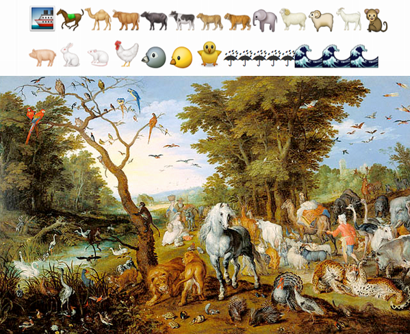 S'attacher à retranscrire l'histoire de l'art par le biais d'emoji, c'est ce qui a été fait avec #emojiarthistory .