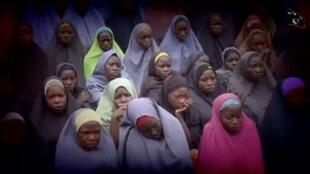 The released Chibok schoolgirls ... Some may have been held in Boko Haram's forest stronghold