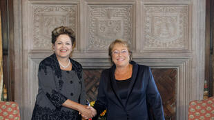 Presidenta Dilma Rousseff durante encontro com a Presidenta eleita do Chile, Michelle Bachelet. (Viña del Mar - Chile, 11/03/2014)