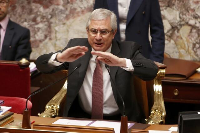 """Claude Bartolone, porta-voz da Assembléia Nacional francesa, que defendeu um """"confronto"""" contra a Alemanha de Merkel."""