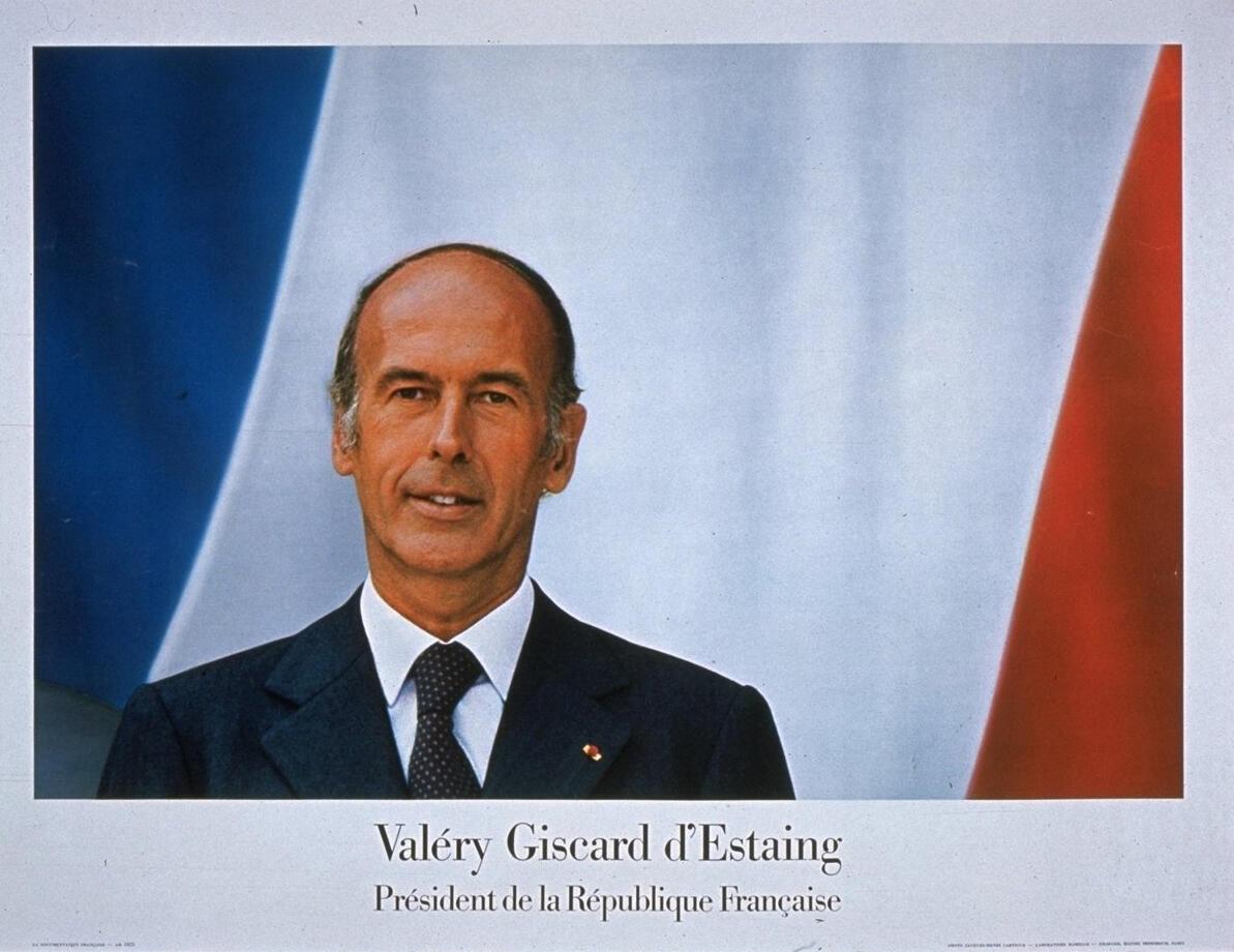 Portrait officiel du président Valéry Giscard d'Estaing.