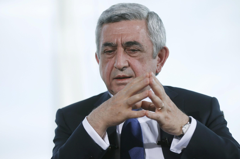 Президент Армении Серж Саргсян, глава правящей Республиканской партии
