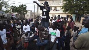 Concert du mouvement «Y en a marre » le 18 juin 2011 dans la banlieue de Dakar.