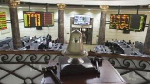 O pregão da Bolsa de Valores do Cairo atravessa momentos de tensão com a crise financeira no país.
