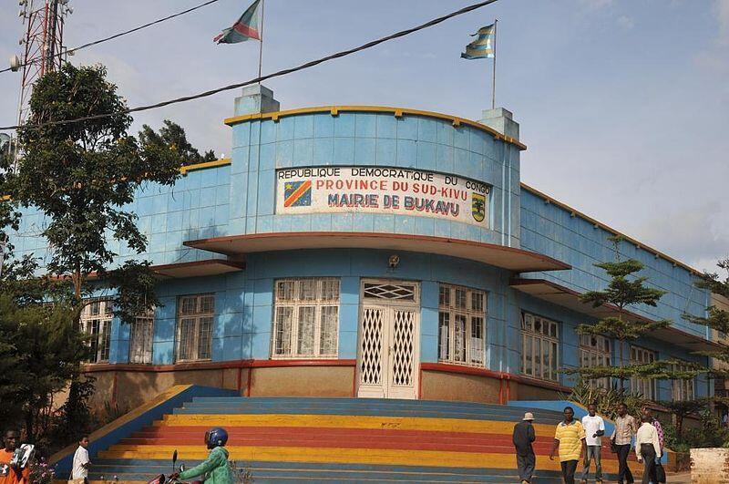 La mairie de Bukavu, dans le Sud-Kivu, à l'est de la RDC. La ville a été la proie d'affrontements entre étudiants et forces de l'ordre, ce mercredi 21 janvier 2015.