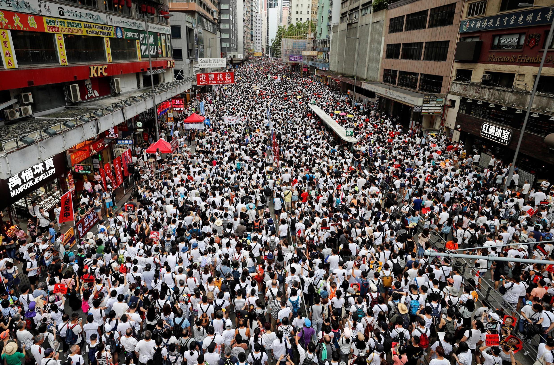 Hơn một triệu người dân Hồng Kông xuống đường chống luật dẫn độ về Hoa Lục. Ảnh ngày 09/06/2019.