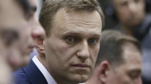 Алексей Навальный во время подачи документов в ЦИК, 24 декабря 2017 года.