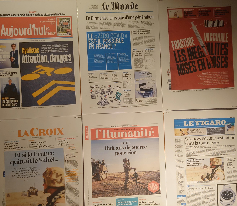 Diários franceses 15 02 2021