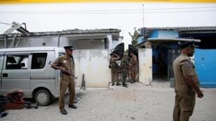 Hiện trường sau vụ đấu súng giữa cảnh sát Sri Lanka và nhóm thánh chiến diễn ra đêm 26 rạng sáng 27/04/2019.