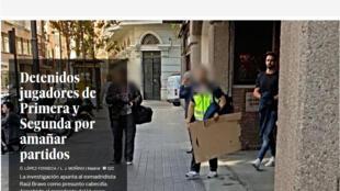 Polícia da Espanha prende jogadores de futebol e dirigentes de clubes acusados de combinar resultados de jogos.