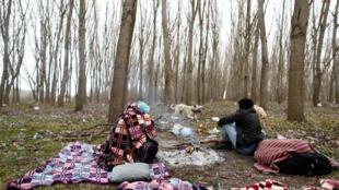 Мигранты не греческо-турецкой границу, 4 марта 2020 год.