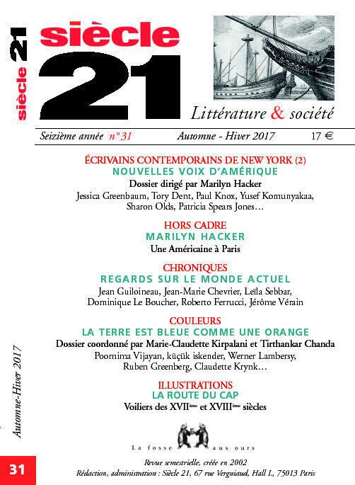 « Siècle 21 », N°31, Automne-Hiver 2017.