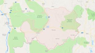 Bản đồ tỉnh Attapeu, phía đông nam Lào