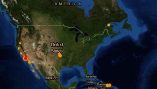 Um terremoto de magnitude 4,4 atingiu Los Angeles nesta segunda-feira (17).