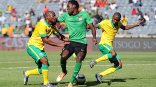 South Africa play Zambia in a CAN 2015 preparatory match