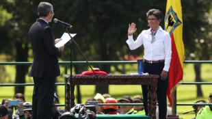 Claudia López tomou posse como prefeita de Bogotá nesta quarta-feira, 1° de janeiro deo 2020