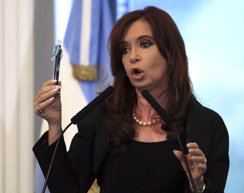 A presidenta argentina, Cristina Kirchner, em abril de 2012, na Casa Rosada, Buenos Aires.