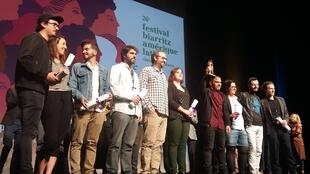 Cerimônia de entrega de prêmios do Festival de cinema Biarritz América Latina 2017 neste sábado (30).