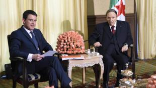 Manuel Valls da shugaba Abdelaziz Bouteflika na Algeria