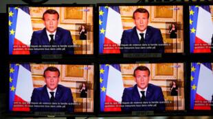 Presidente francês Macron alarga período de confinamento devido ao coronavírus