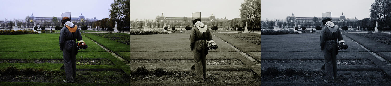 Une photo prise en 2009 : selon qu'elle est en couleur, noir et blanc ou sépia, cette photo semble avoir été prise à une époque différente.