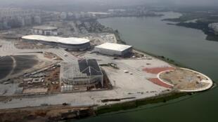 Vista aérea do Parque Olímpico do Rio de Janeiro, em imagem de 29 de julho de 2015.